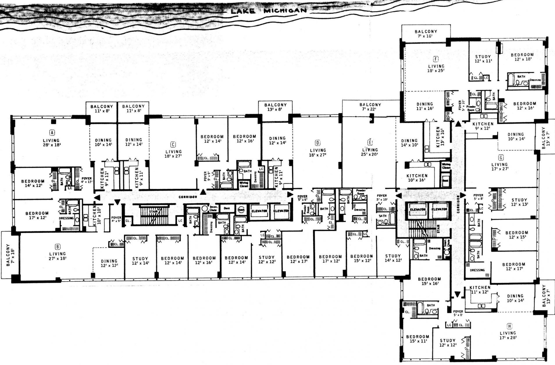 Units and floor plans 1616 condominiums for Floor plan com