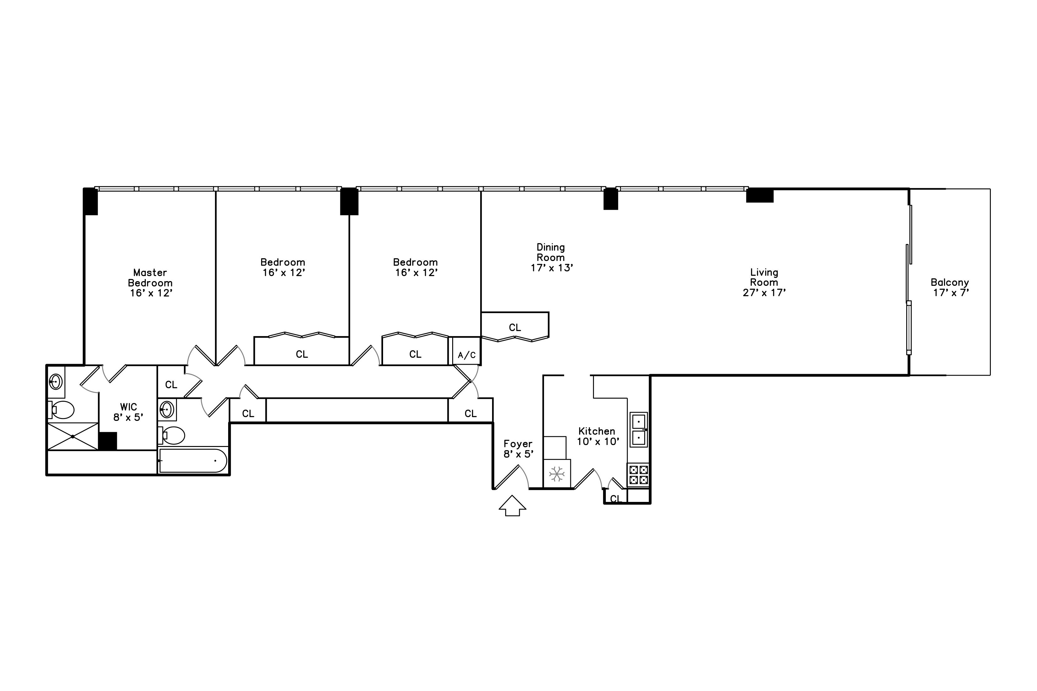 Units and floor plans 1616 condominiums for Floor plans for units