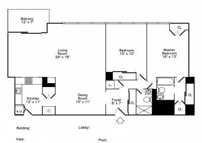 C Unit Floor Plan